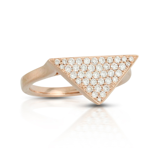 Ring in 18k gold with diamonds from Doves by Doron Paloma's new Petite Doves jewelry collection