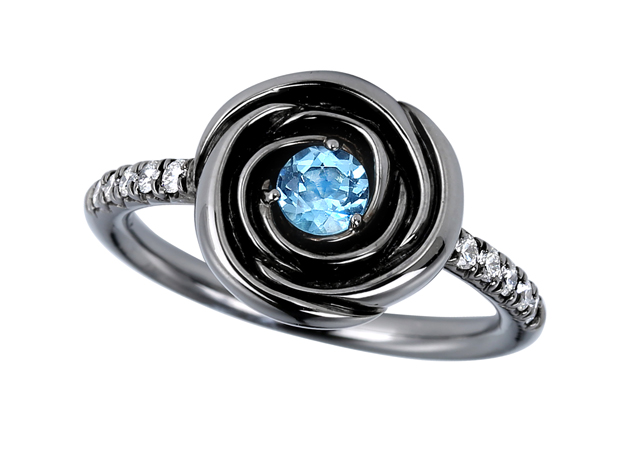 Jane Taylor ring with blue topaz