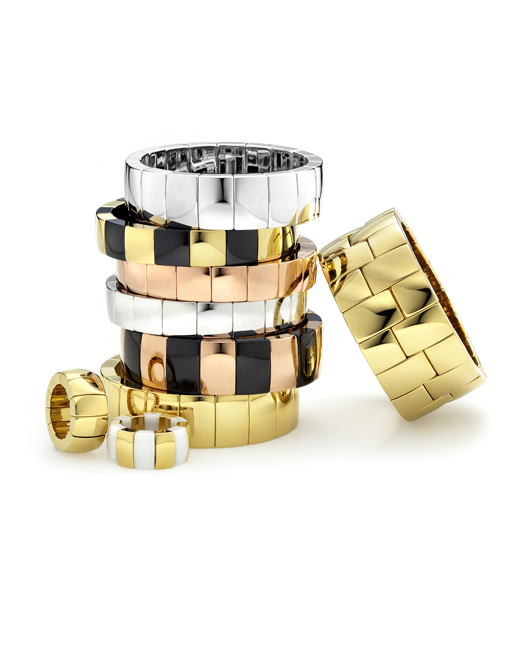 Gold-plated ceramic cuffs from Roberto Demeglio's Aura collection