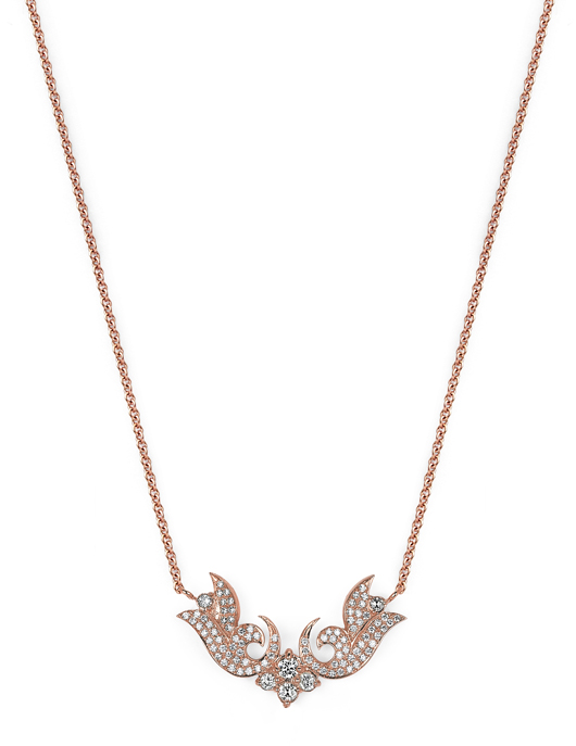 Sara Weinstock French Tulip pendant necklace in gold and diamonds