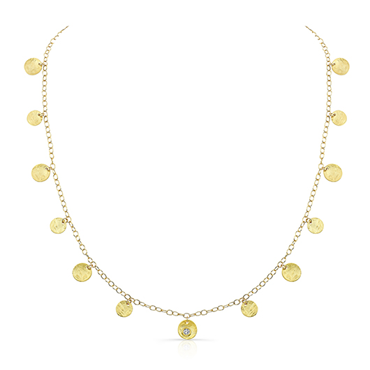 Oval Link Chain necklace in 18k gold with Forevermark diamonds by Rahaminov