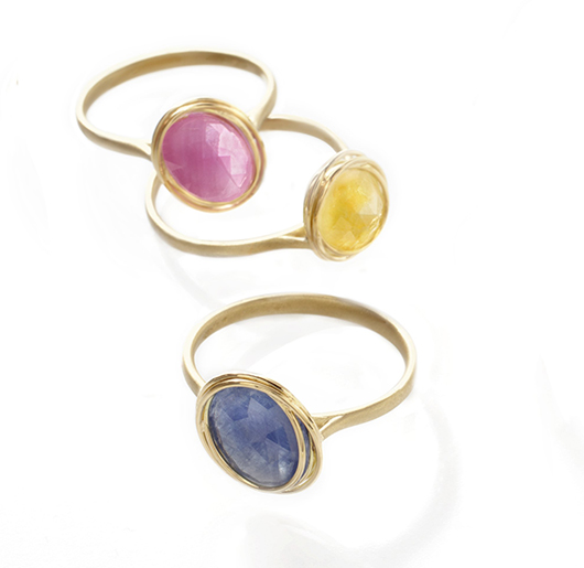 Bizzotto gold and gemstone rings