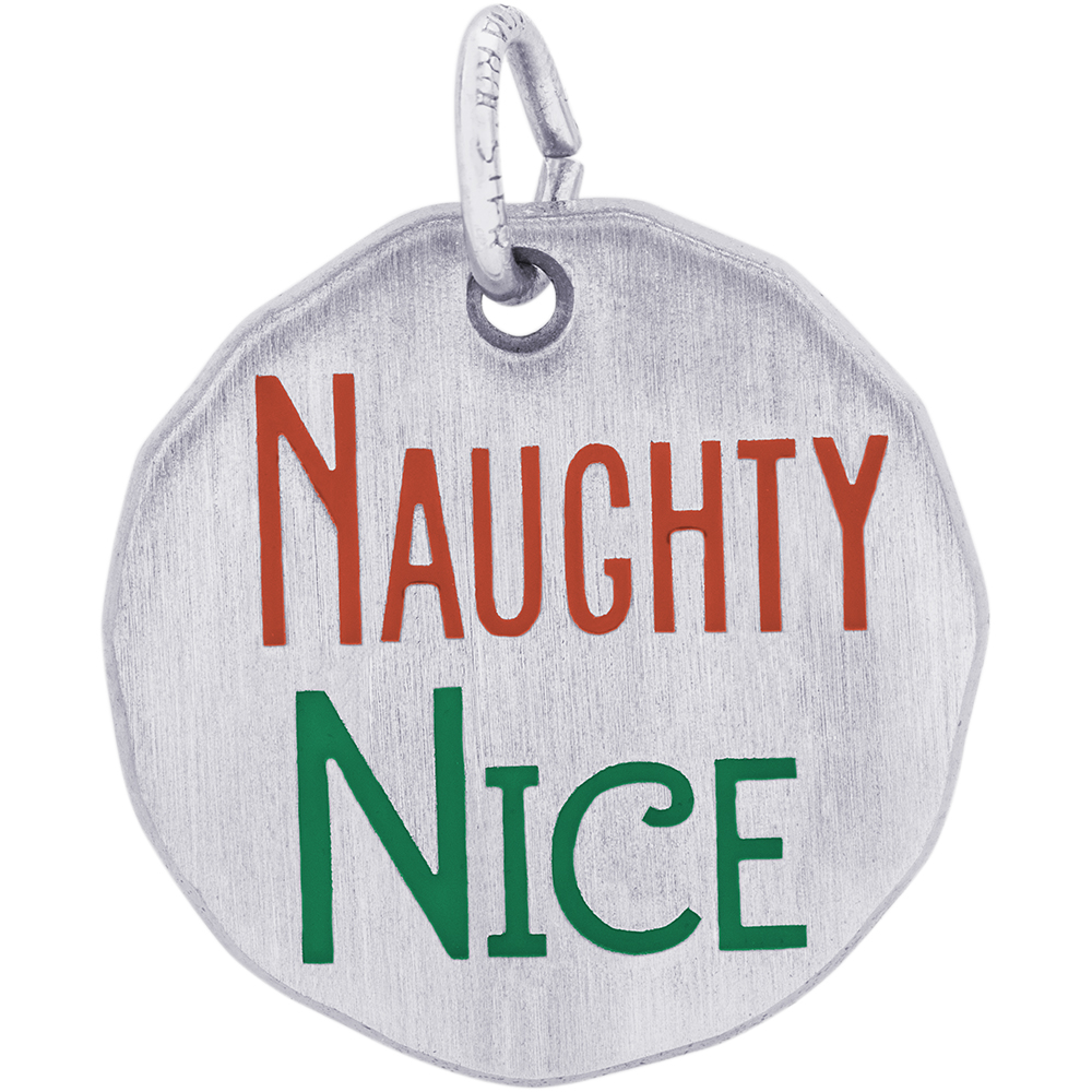 Rembrandt Charms Naughty and Nice tag charm