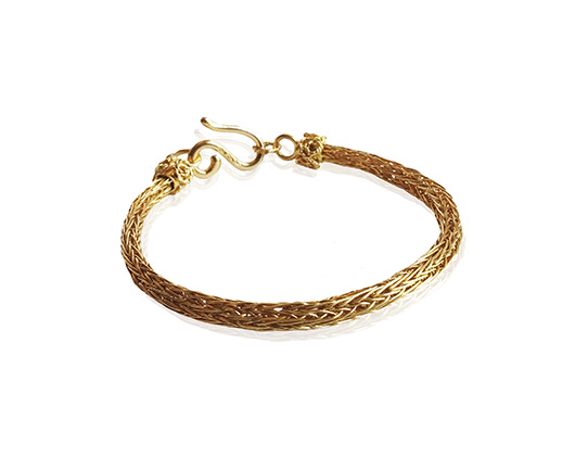 Handwoven 22k gold bracelet from House of Rishavy