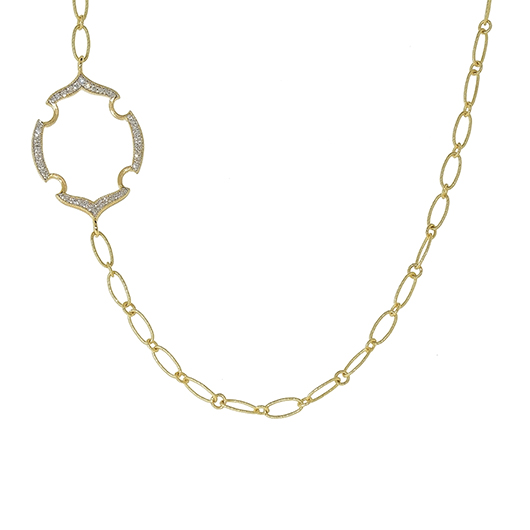 Jude Frances gold necklace with diamonds
