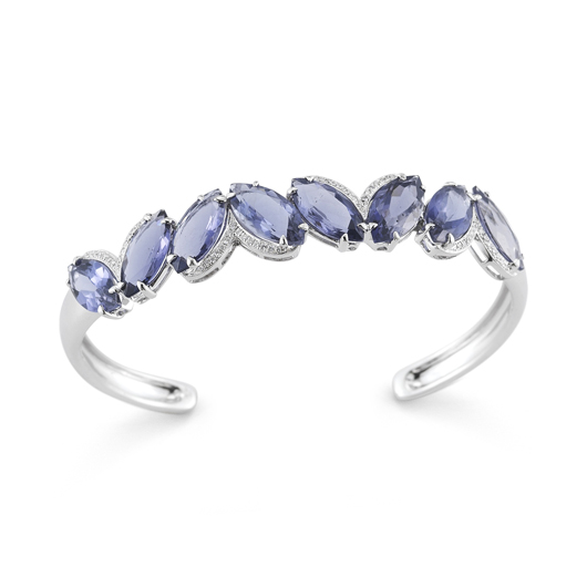 Dana Rebecca Designs iolite and diamond bracelet in gold