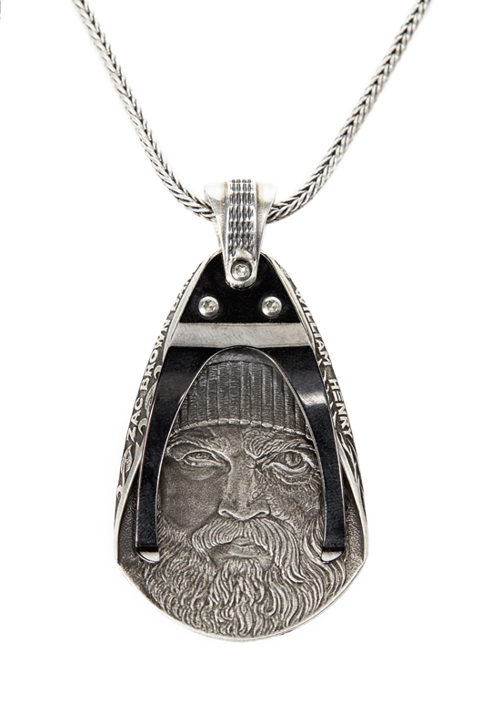 Guitar Pick necklace in silver from the new Jekyll + Hyde collection from Wiliam Henry in collaboration with the Zac Brown Band