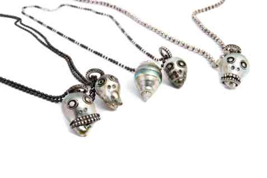 Pearl skull face necklaces from Samira 13