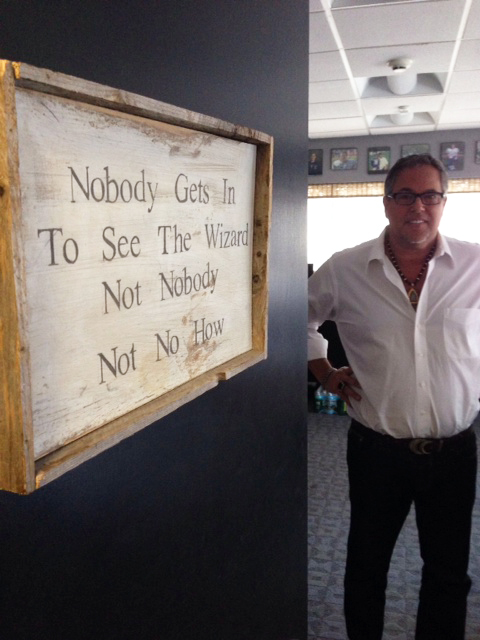Scott Kay in the doorway of his office in New Jersey.