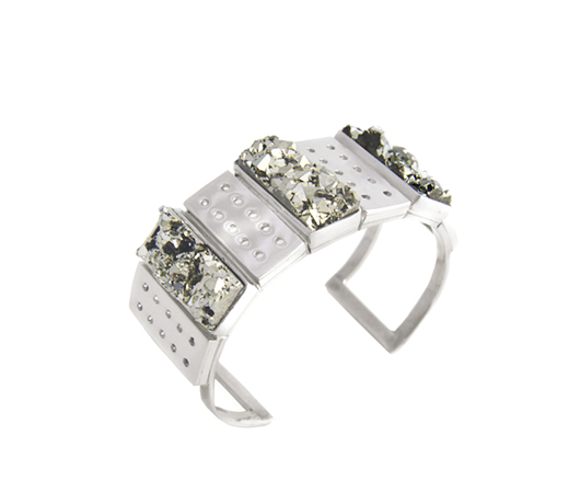 Sissai silver cuff with drusy