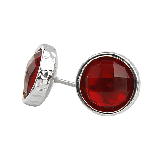 Stacked New York Argentium silver stud earrings with red spinel retail for $85 apiece or $170 for a paire