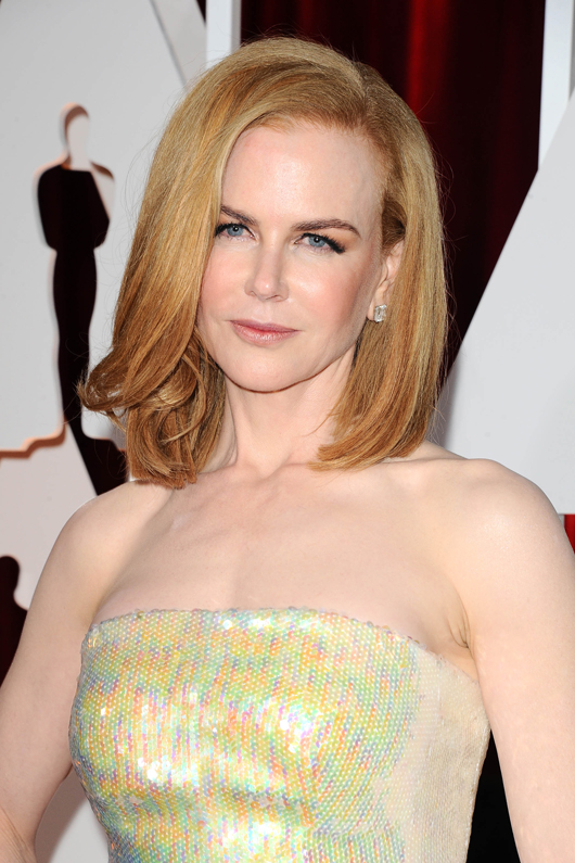 Nicole Kidman in Harry Winston diamonds and platinum at the 2015 Oscars