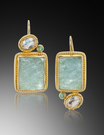 Stepping Stone earrings by Elizabeth and Jack Gualtieri, Portland Ore.