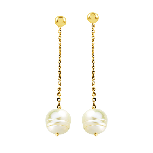 Stuller earring jackets in gold with pearls