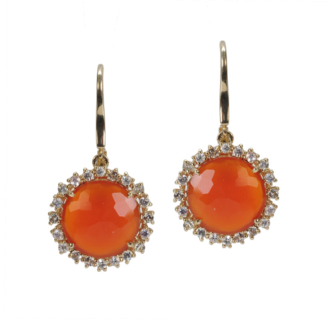 Suzanne Kalan earrings with orange chalcedony