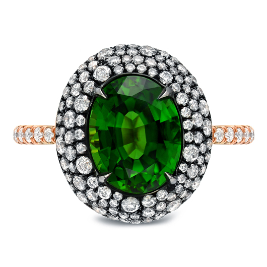 Tamir Jewels chrome tourmaline and diamond ring