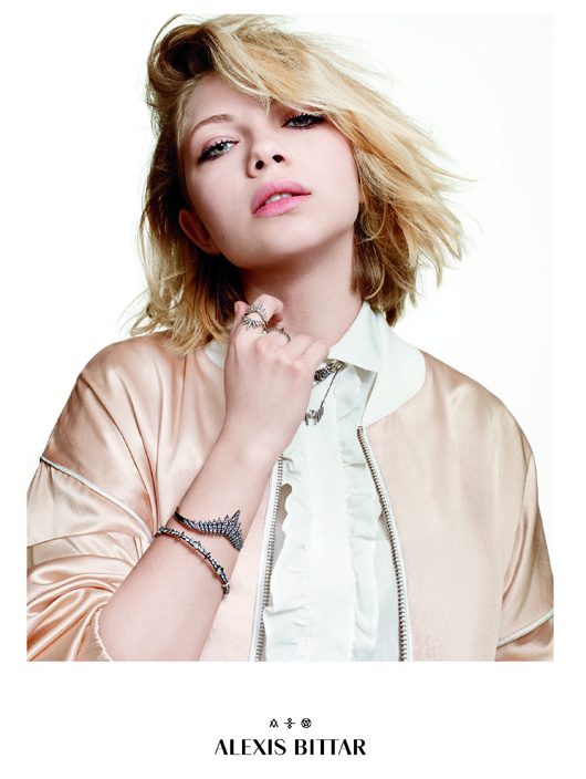 Tavi Gevinson in a new ad for Alexis Bittar