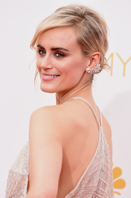 Taylor Schilling in a Forevermark by Premier Gem diamond ear climber at the 2014 Emmys