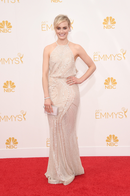 Taylor Schilling in Forevermark diamond jewelry at the 2014 Emmys