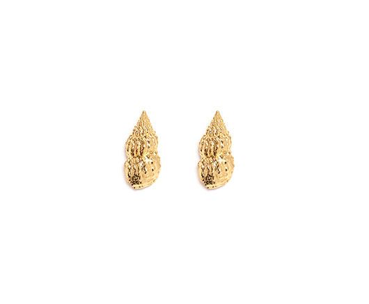 Tiffany Chou gold-plated steel shell earrings
