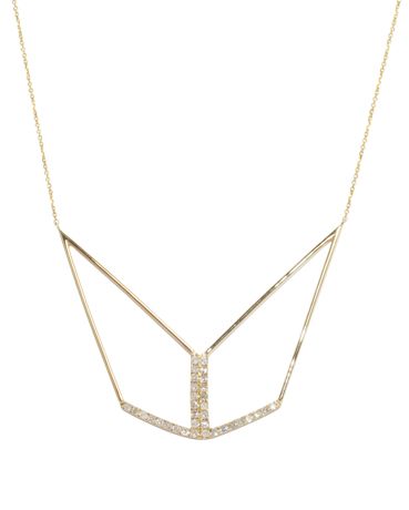 Tori necklace in 14k gold with .50 ct. diamonds, $1,995; Meredith Marks