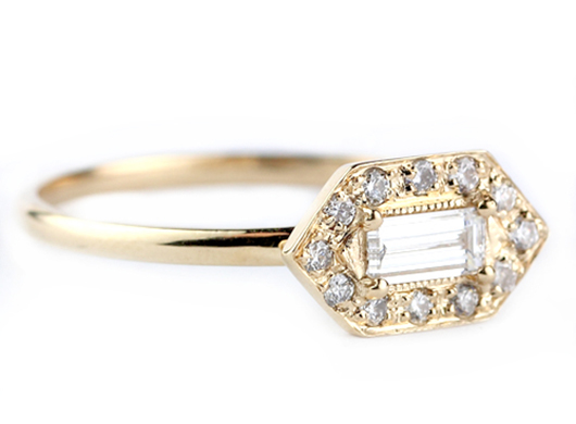 Katie Diamond baguette diamond ring