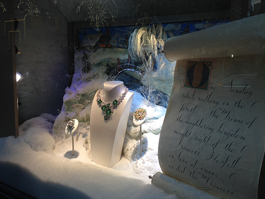 Van Cleef and Arpels window scene in Manhattan