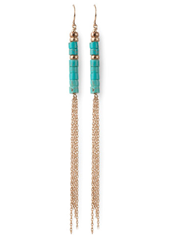Viv AND Ingrid earrings in gold fill with turquoise