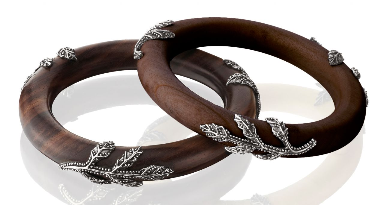 KIR Collection Amsara wood bangle bracelets