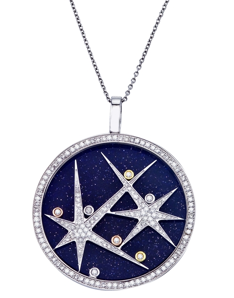 What's Your Sign Jewelry Starz blue lapis pendant