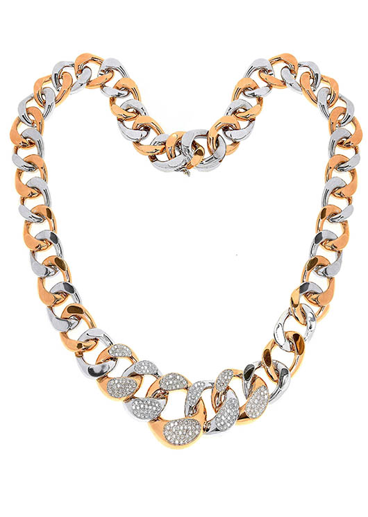 Necklace in 18k gold with diamonds from Alishaev