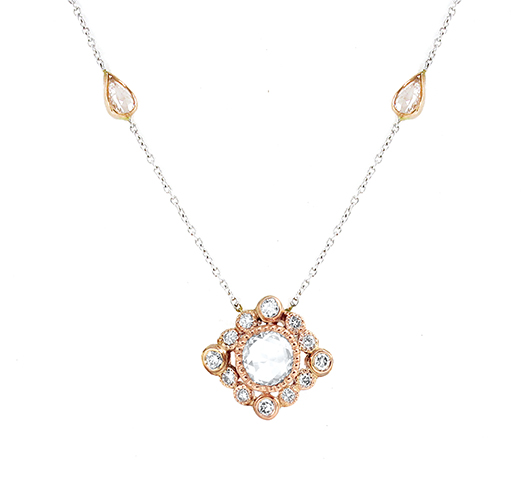 Vivaan 18k gold necklace with rose-cut diamonds