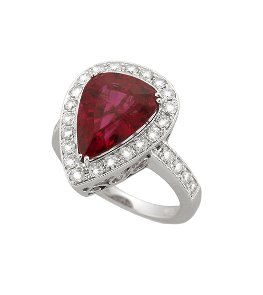 Yael ring with rubellite