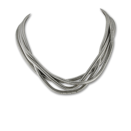 Zina Sterling collar necklace in silver