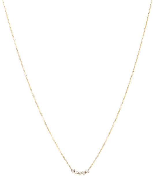 Zoe Chicco necklace in 14k gold with diamonds