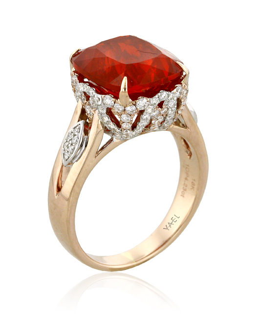 Yael Designs gold and fire opal ring