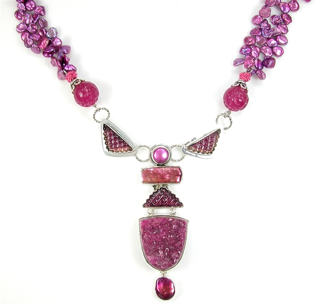 Amy Kahn Russel hand-carved tourmaline necklace
