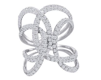 A&P Afarin diamond loops ring