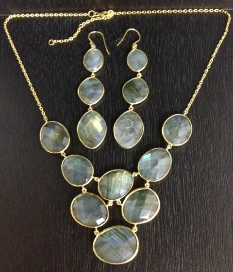 Argento Vivo labradorite bib necklace