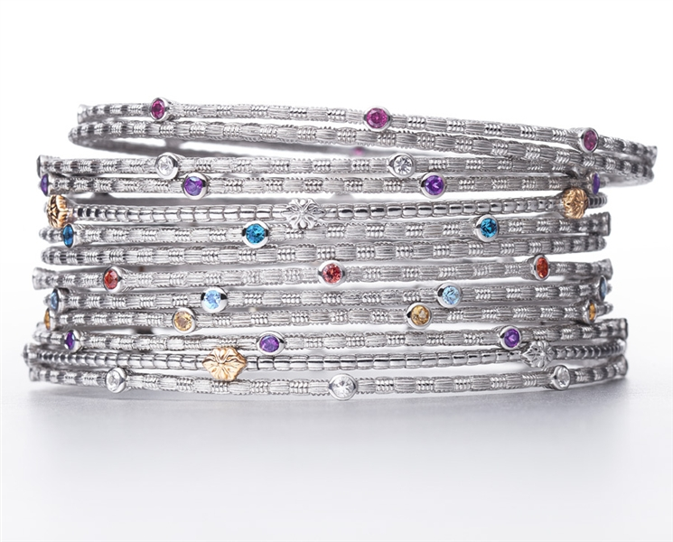 ARIVA birthstone stacking bangles