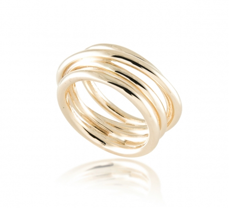 Wired Wrap ring in 14k gold by Zina Sterling