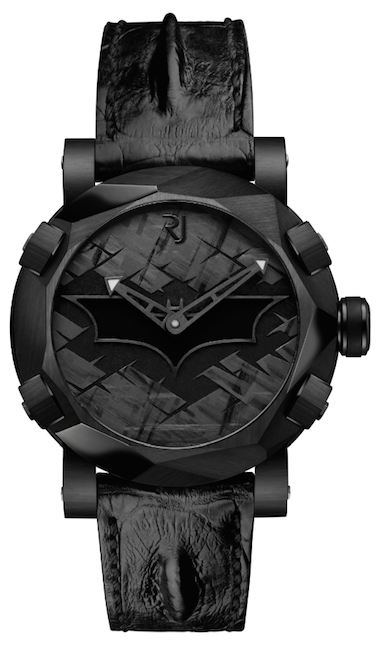 Batman Watch has a light-up bat signal and is from RJ-Romain Jerome in collaboration with Warner Bros.