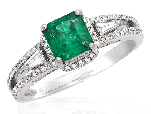 Bel Air Jewelry square-cut emerald ring