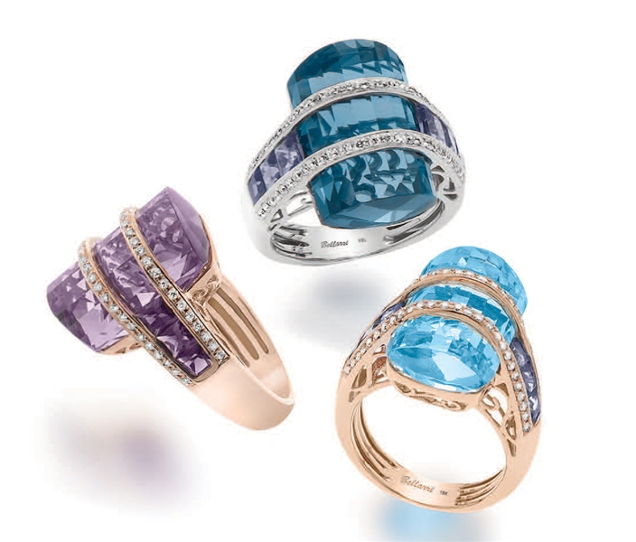 BELLARRI Tango collection gemstone rings