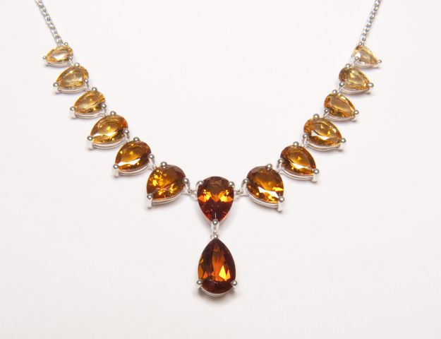 citrine necklace QVC/Smithsonian