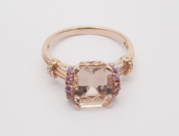 morganite ring QVC/Smithsonian