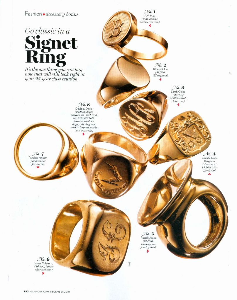 Vintage Signet Ring Ladies
