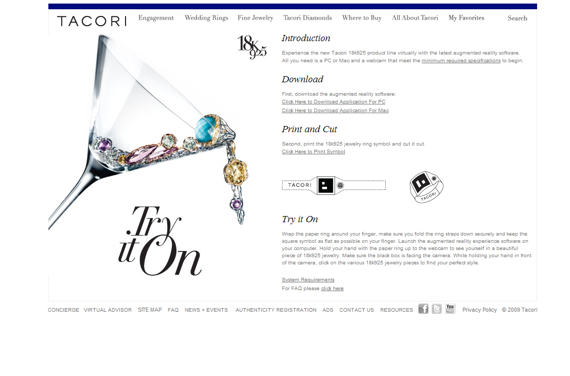 Virtually try on Tacori's 18k925 jewelry at the Tacori.com/TryItOn website.