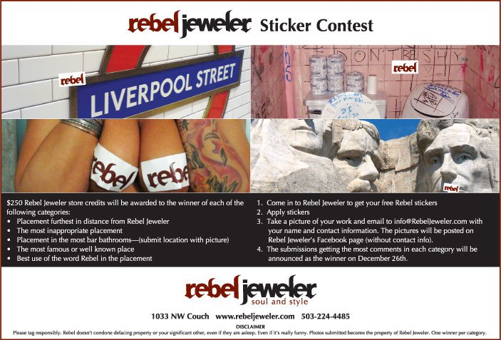 Sticker contest ad