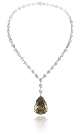 Chopard brown and colorless diamond necklace from its 2011 Red Carpet Collection